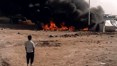 صورة وفاة وإصابة نحو 30 شخصا باحتراق عدد من الخيم في مخيم الهول جنوب الحسكة