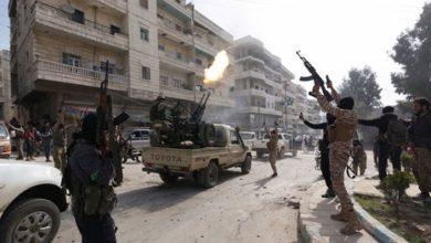 """صورة قتلى وجرحى في معارك مستمرة بين ميليشيات """"الجبهة الشامية"""" و""""جيش الإسلام"""" وسط عفرين"""