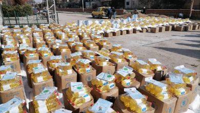 صورة ٢٠ ألف سلة غذائية من الهلال الأحمر لريف الحسكة ومراكز الإيواء