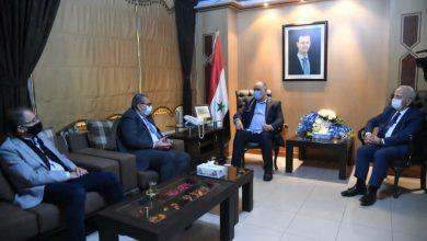 صورة مباحثات سورية أردنية لتفعيل علاقات التعاون الاقتصادي وتنشيط التبادل التجاري والترانزيت بين البلدين