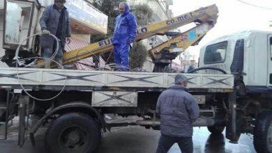 صورة سرقة خطوط كهربائية في 9 أحياء بحمص