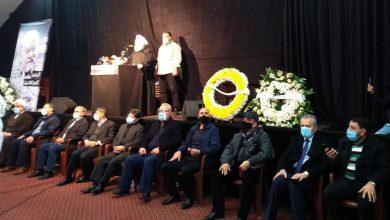 صورة بتكليف من الرئيس الأسد.. السفير السوري في لبنان يشارك في تشييع الراحل النقاش