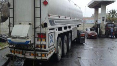 صورة فريق عمل لمراقبة توزيع مازوت النقل العام بحلب