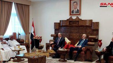 صورة الوزير المقداد يبحث مع نظيره العماني العلاقات الثنائية بين سورية والسلطنة