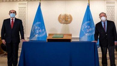 صورة خلال استقباله السفير صباغ.. غوتيريش يؤكد الالتزام القوي بالتعاون مع الحكومة السورية