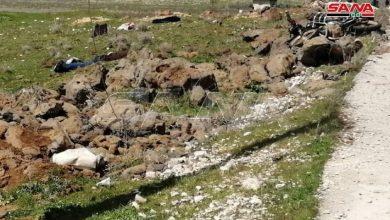 صورة إحباط عملية إرهابية بأحزمة ناسفة كانت تستهدف مدينة دمشق