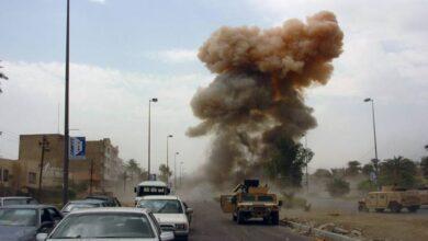 صورة عبوة ناسفة تستهدف رتلا أمريكيا في العراق