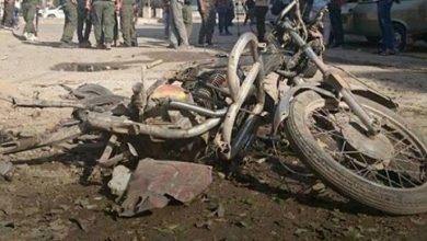 صورة استشهاد طفل وإصابة 14 مدنياً بجروح بانفجارين متزامنين في جرابلس بريف حلب