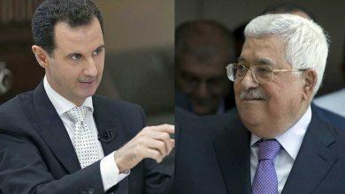 صورة الرئيس الأسد يتلقى برقية تهنئة من الرئيس الفلسطيني محمود عباس بعيد الجلاء
