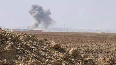صورة طائرة للاحتلال التركي تقصف ريف الحسكة