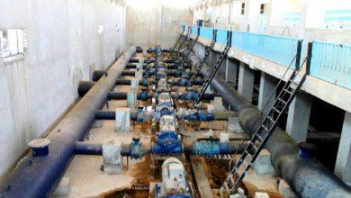 """صورة بدء عملية ضخ المياه في محطة """"علوك"""" إلى مدينة الحسكة بعد توقف دام ٣٥ يوماً"""