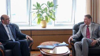 صورة السفير السوري في بيلاروس يبحث مع نائب وزير الخارجية البيلاروسي العلاقات الثنائية بين البلدين وسبل تعزيزها