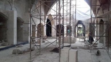 صورة تتبع تنفيذ أعمال الجامع الأموي وأسواق الحرير والفستق والحدادين بحلب