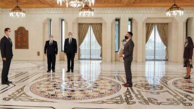 صورة الرئيس الأسد يتقبل أوراق اعتماد سفيري موريتانيا والأرجنتين لدى سورية