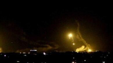 صورة استهداف صاروخي لمطار أربيل.. والقنصلية الأمريكية تطلق صافرات الإنذار