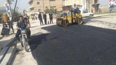 صورة مجلس مدينة حلب يزفت أسواق الغنم والبقر والخضرة في حي النيرب ويفتح شوارع العويجة