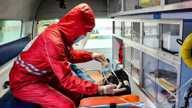 صورة فرع الهلال الأحمر بالحسكة: 395 بلاغ إسعافي لمصابي كورونا
