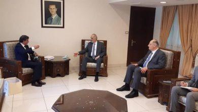 صورة د.الجعفري لـ السفير عبد الهادي: سورية ترحب بأي قرار يحوز على الإجماع الفلسطيني وينهي الانقسام
