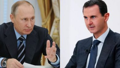 صورة الرئيس الأسد يتلقى برقية تهنئة من الرئيس الروسي