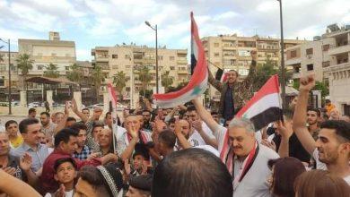 صورة مسيرات تأييد للرئيس الأسد في حماة وسلمية ومحردة والسقيلبية والريف