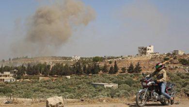 صورة انفجار في مستودع ذخيرة بإدلب يوقع قتلى بين الإرهابيين
