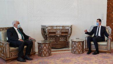 صورة الرئيس الأسد يتلقى رسالة من رئيس الوزراء العراقي تتعلق بالعلاقات الثنائية والتعاون القائم بين البلدين في مكافحة الإرهاب