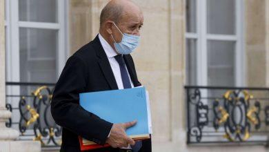 صورة وزير الخارجية الفرنسي يهدد المسؤولين اللبنانيين!