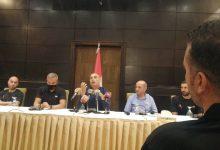 صورة مؤتمر صحفي لمنتخب السلة