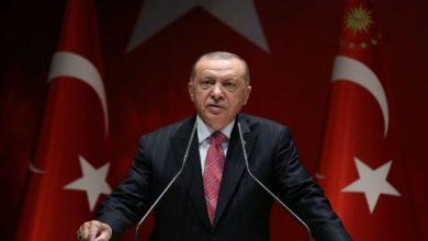 صورة أردوغان يستغل دماء الفلسطينيين مجددا