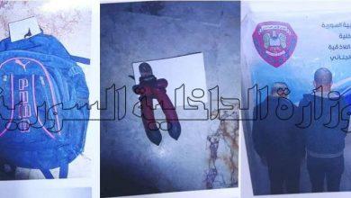 صورة القبض على شخصين في اللاذقية الأول يسرق الأسلاك الكهربائية والآخر يشتريها بعد حرقها