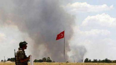 """صورة """"التركي"""" يشن قصفاً بالصواريخ على قرى تل أبيض"""