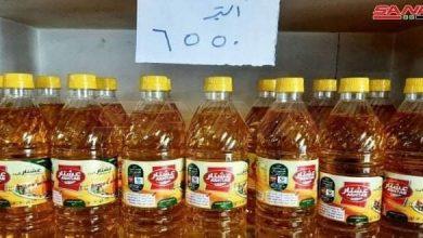 صورة ثلاثة آلاف ليتر من الزيت النباتي بصالات السورية للتجارة في السويداء