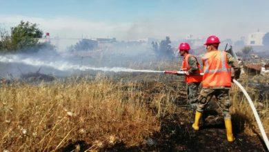 صورة إخماد 9 حرائق اليوم.. بينها محاصيل قمح وشعير في حمص وريفها