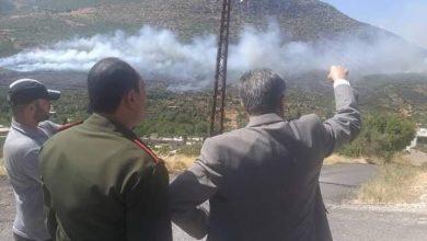 صورة السيطرة على 90 بالمئة من حريق حراج اللقبة