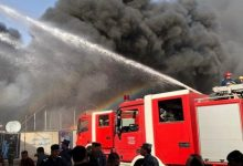 صورة العراق.. حريق كبير بأحد محال جنوب العاصمة التجارية