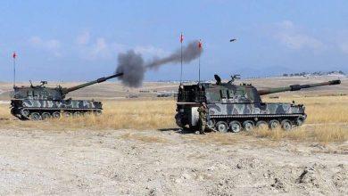 """صورة قصف متبادل بين """"قسد"""" والاحتلال التركي.. ومعلومات عن جرحى أتراك"""