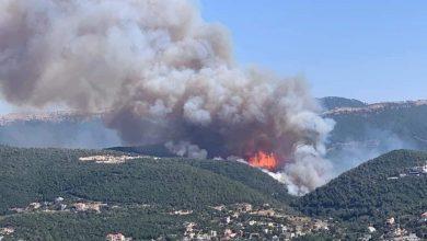 صورة الحرائق تلتهم شمال لبنان