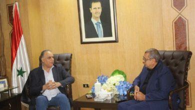 صورة البرازي يؤكد لرئيس غرفة تجارة الأردن حرص سورية على تقديم الدعم لكل نشاط يساهم في تنشيط العلاقات