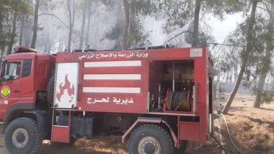 """صورة رئيس حراج اللاذقية لـ""""الوطن"""": إخماد 10 حرائق زراعية منذ بداية اليوم"""