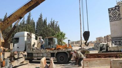 صورة إزالة السواتر والحواجز من أمام قيادة شرطة حماة