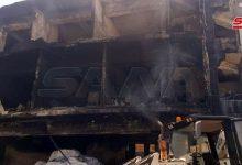 صورة ٤ وفيات و٧ إصابات في حريق معمل للدهانات بالمدينة الصناعية في حلب