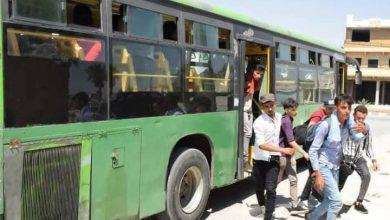 """صورة 400 طالب ثانوي عبر """"التايهة"""" إلى حلب لتقديم الامتحانات"""
