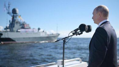 صورة بوتين في ذكرى إنشاء الأسطول الروسي: البحرية قادرة على توجيه ضربة عسكرية لأي عدو
