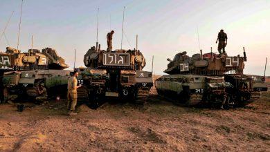 صورة توتر على الحدود اللبنانية الفلسطينية.. وجيش الاحتلال يحشد دباباته