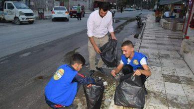 صورة حملة نظافة في مركز مدينة الحسكة