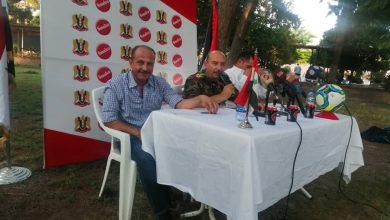 صورة في المؤتمر الصحفي لنادي الجيش.. تفاؤل مشروع باستعادة اللقب