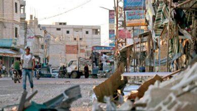 صورة شهداء بقذائف الإرهابيين في درعا