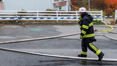 صورة إصابة عشرات الأشخاص بانفجار مبنى سكني في السويد