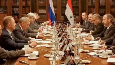 صورة بالتوازي مع القمة بين الرئيسين بشار الأسد وفلاديمير بوتين اجتماع أعمال اللجنة الحكومية السورية المشتركة