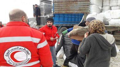 صورة توزيع مساعدات إغاثية جديدة على سكان مدينة الحسكة